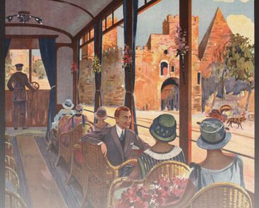 "The Italian Government Tourist Board advertising the glamourous experience of taking a tram in 1927 Rome to tourists. While I absolutely love trams and have been cheerleading their renaissance in Scotland and France e.g. – I never thought I'd utter ""glamour"" and ""tram"" in the same sentence…"