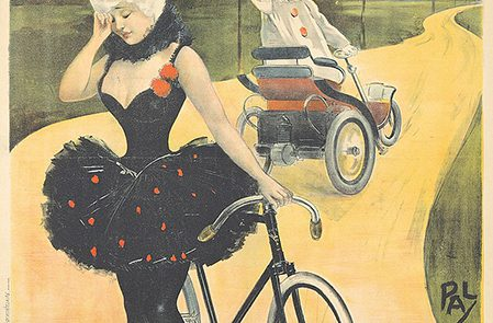 Phebus' prescient image in 1899 on the car winning against the cycle, by Jean de Paleologu.